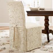 Sure Fit Scroll Champagne Dining Room Chair Slipcover at Sears.com