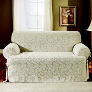 Sure Fit Scroll Champagne T-Cushion Sofa Slipcover at Sears.com