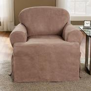Sure Fit Soft Suede Sable T-Cushion Chair Slipcover at Kmart.com