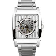 Bulova Mens Automatic Mechanical Watch with White Square Dial and Silvertone Link Band at Sears.com
