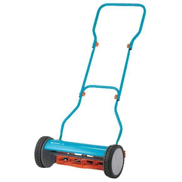 Silent hand reel mower