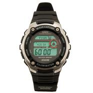 Casio Mens Calendar Day Atomic Watch with Digital Dial & Black Resin Band at Kmart.com