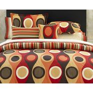 Manor Hill Retro Radar Camel Red Duvet Collection at Kmart.com