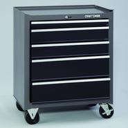 "Craftsman 26"" Wide 5-Drawer Basic Bottom Chest - Platinum/Black at Craftsman.com"