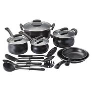 Basic Essentials 16 Piece Non-Stick Steel Cookware Set at Kmart.com