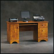 "Sauder 29""H x 59-1/2""W x 23-1/2""D Computer Desk with File Drawer - Brushed Maple at Kmart.com"
