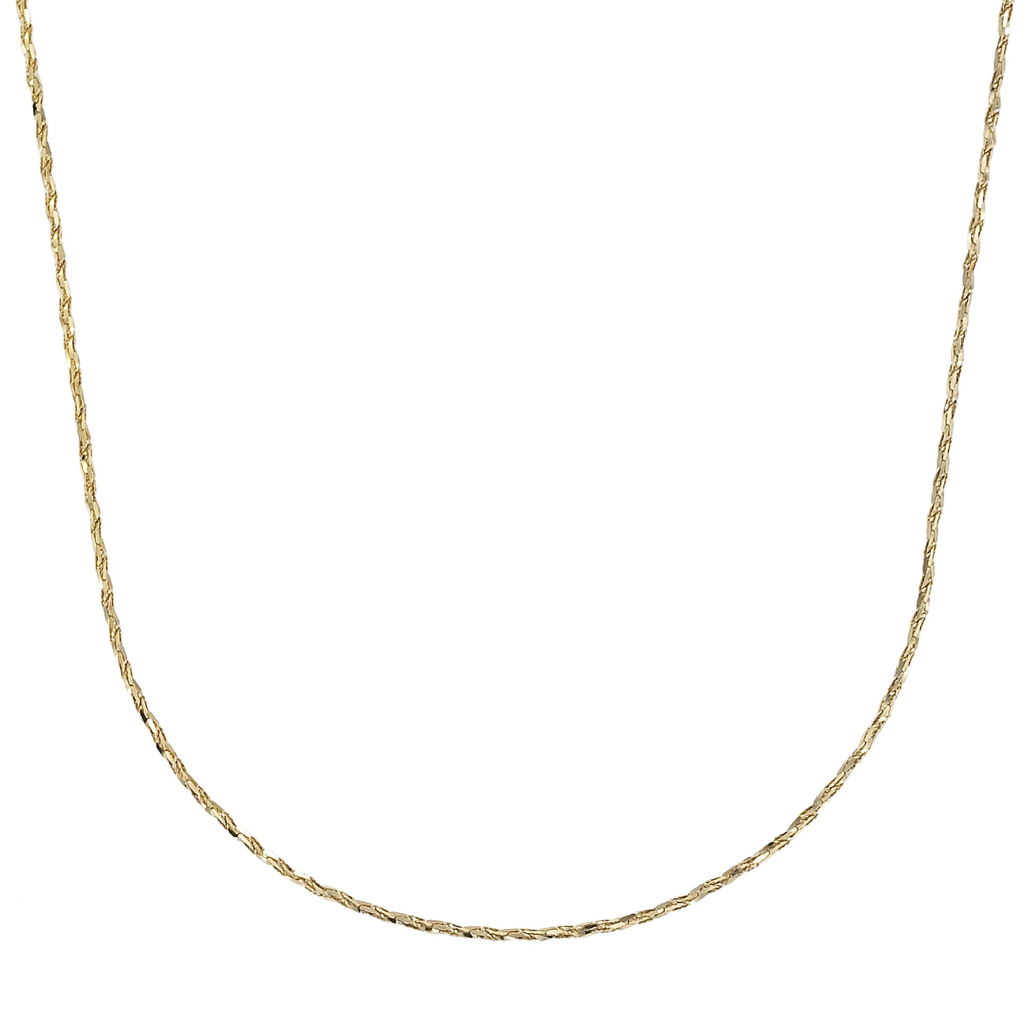 24KT Gold over Sterling Silver Tornado Necklace