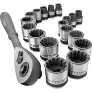 "Craftsman 19-piece 3/8"" Dr. Inch and Metric Universal Socket Wrench Set at Craftsman.com"
