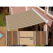 Beauty-Mark® DESTIN® LX Motorized Retractable Awning  with Hood - Brown/Tan Multi at Sears.com