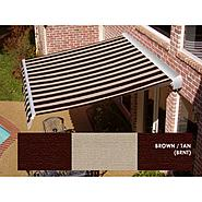 Beauty-Mark® DESTIN® LX Motorized Retractable Awning  with Hood - Brown/Tan at Sears.com