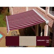 Beauty-Mark® DESTIN® LX Motorized Retractable Awning  with Hood - Burgundy/Tan at Sears.com