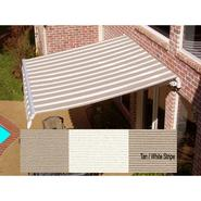 Beauty-Mark® MAUI® LX  Manual Retractable Awning  - Tan/White at Sears.com