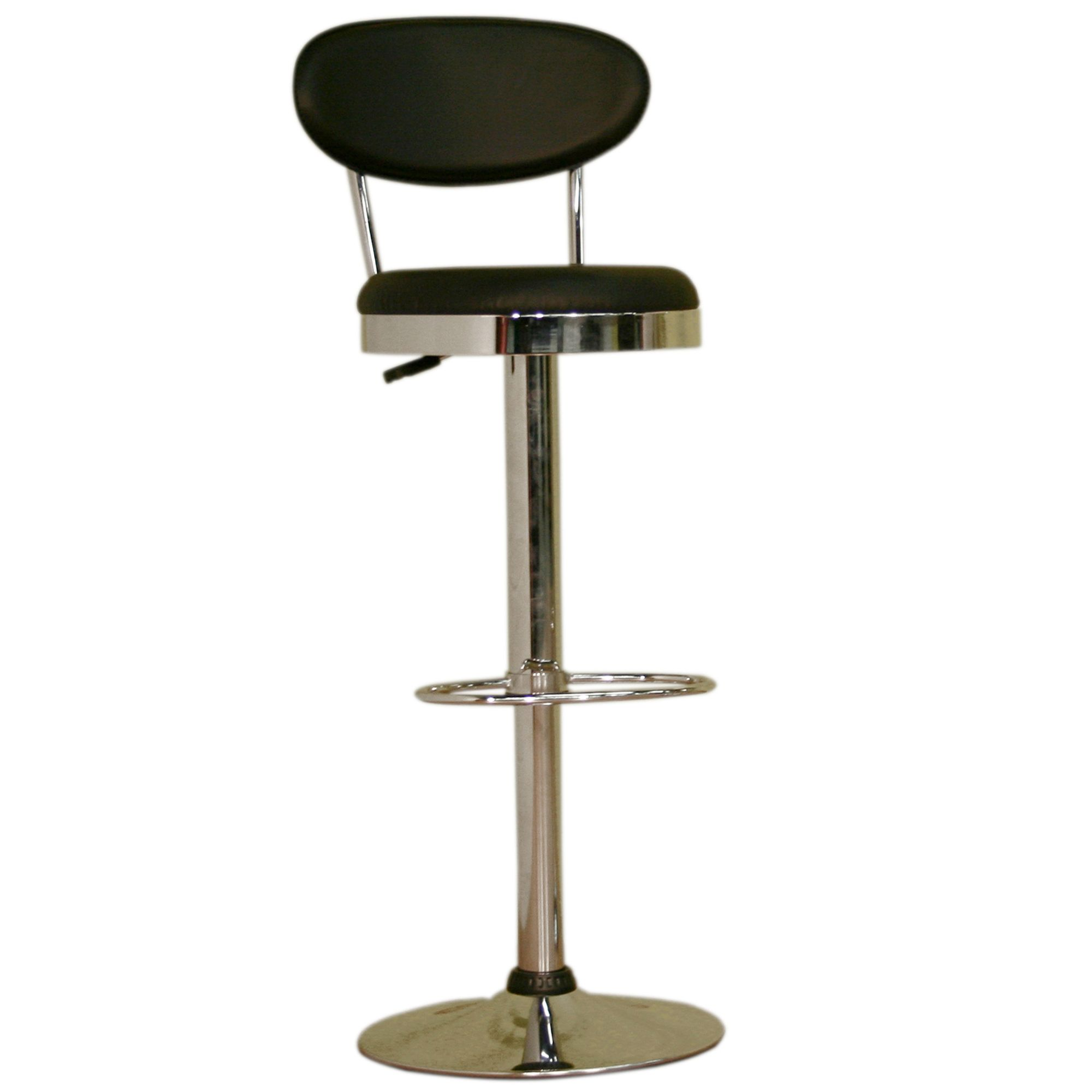 Adjustable Vinyl and Chromed Steel Bar Stool