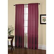 Jaclyn Smith Wine Crushed Voile Window Panel at Kmart.com