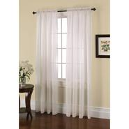 Jaclyn Smith Ivory Crushed Voile Window Panel at Kmart.com