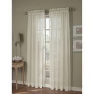 Jaclyn Smith Ivory Crinkle Stripe Sheer Window Panel at Kmart.com