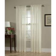 Jaclyn Smith Ivory Georgette Semi Sheer Window Panel at Kmart.com
