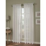 Jaclyn Smith White Crinkle Stripe Sheer Window Panel at Kmart.com
