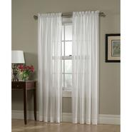 Jaclyn Smith White Georgette Semi Sheer Window Panel at Kmart.com