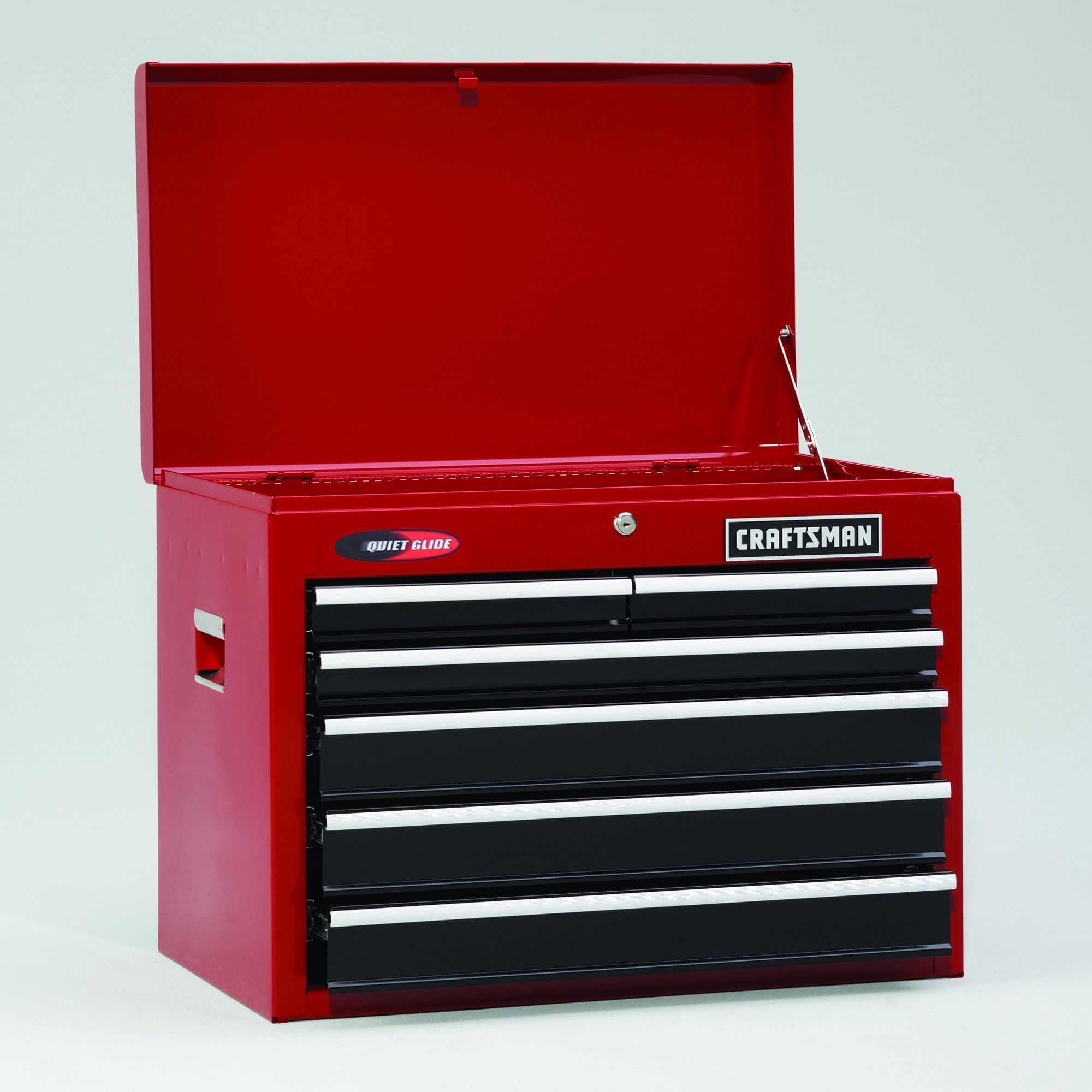 "Craftsman 26"""" 6-Drawer Quiet Glide Tool Chest - Red/Black"