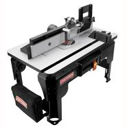 Craftsman Router Table with Folding Legs and 24 x 14 in. Laminated MDF Work Surface at Craftsman.com