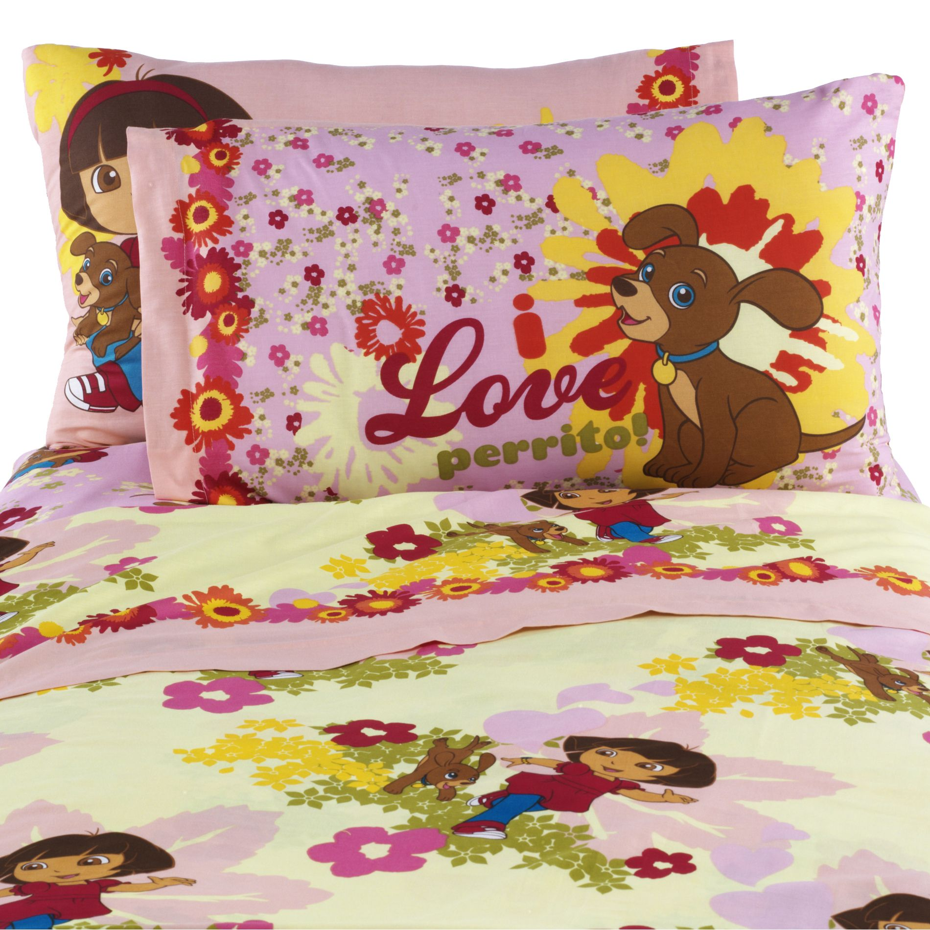 Dora And Puppy Sheet Set