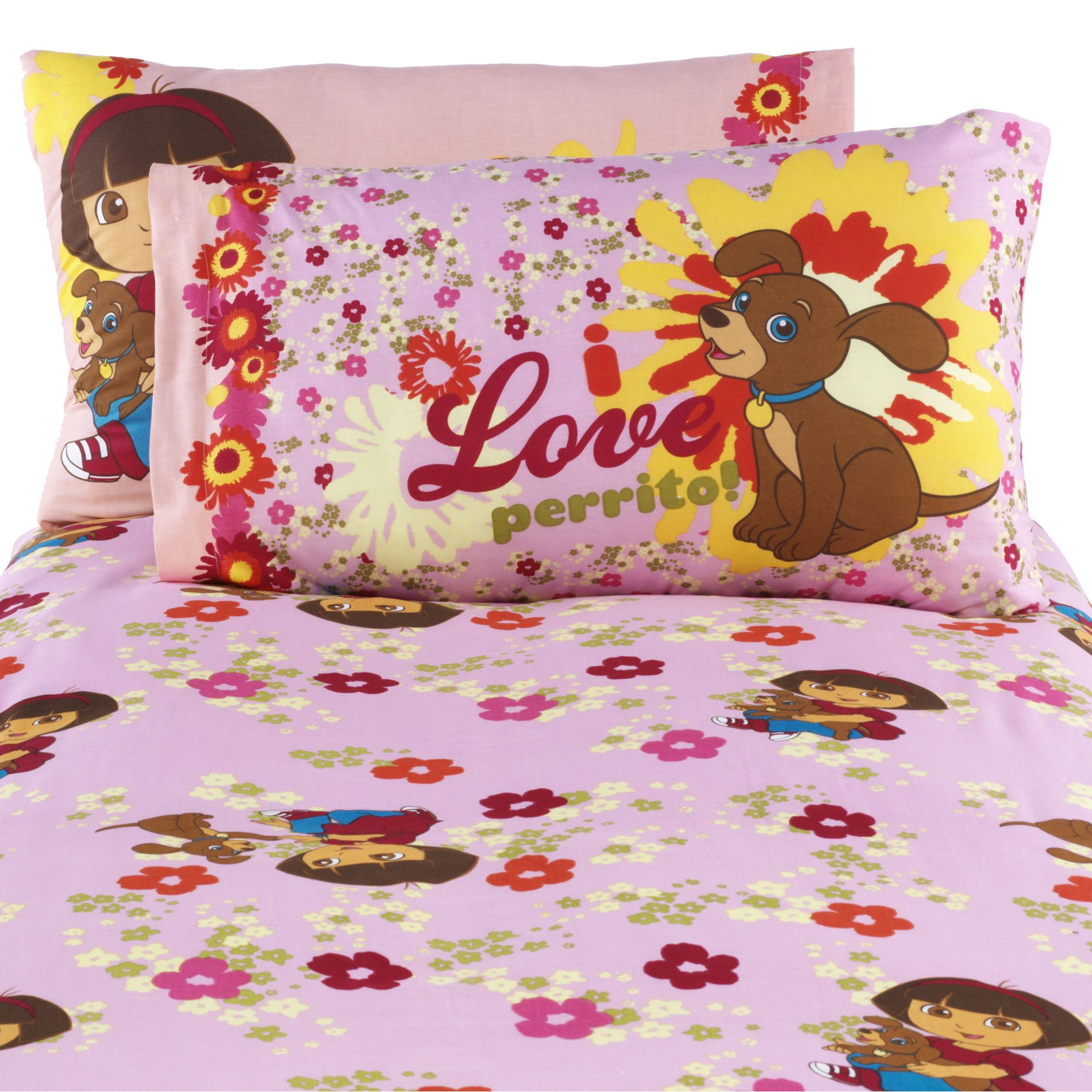 Dora And Puppy Pillowcase