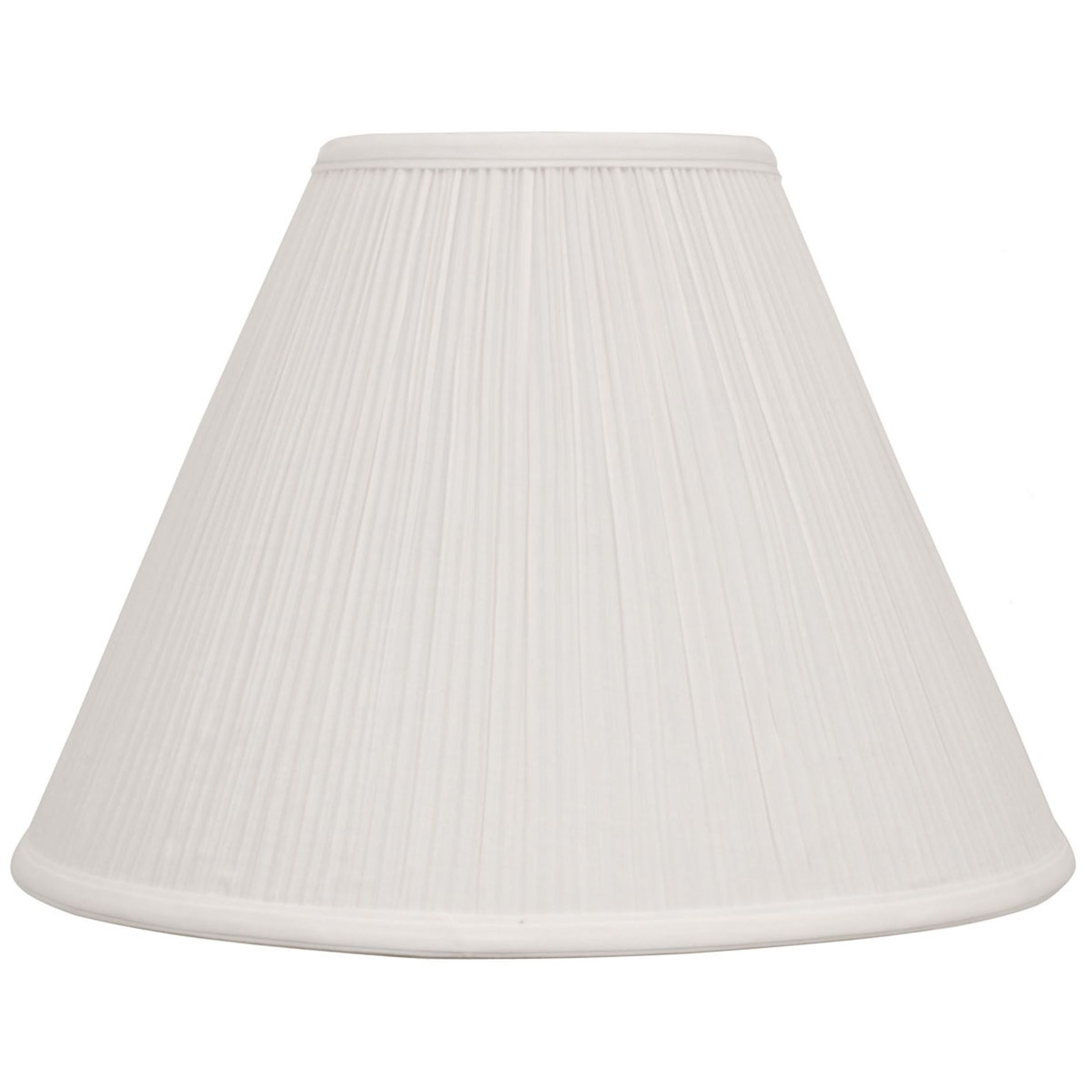 Essential Home  Lamp Shade White Pleat Cone