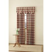 Country Living Oatmeal and American Red Casual Plaid Window Panels at Kmart.com
