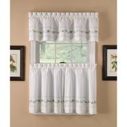 Country Living Sage Lace Embroidered Floral Tier Curtains at Kmart.com
