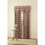 Country Living Oatmeal and American Red Casual Plaid Window Panel and Valance Collection at Kmart.com