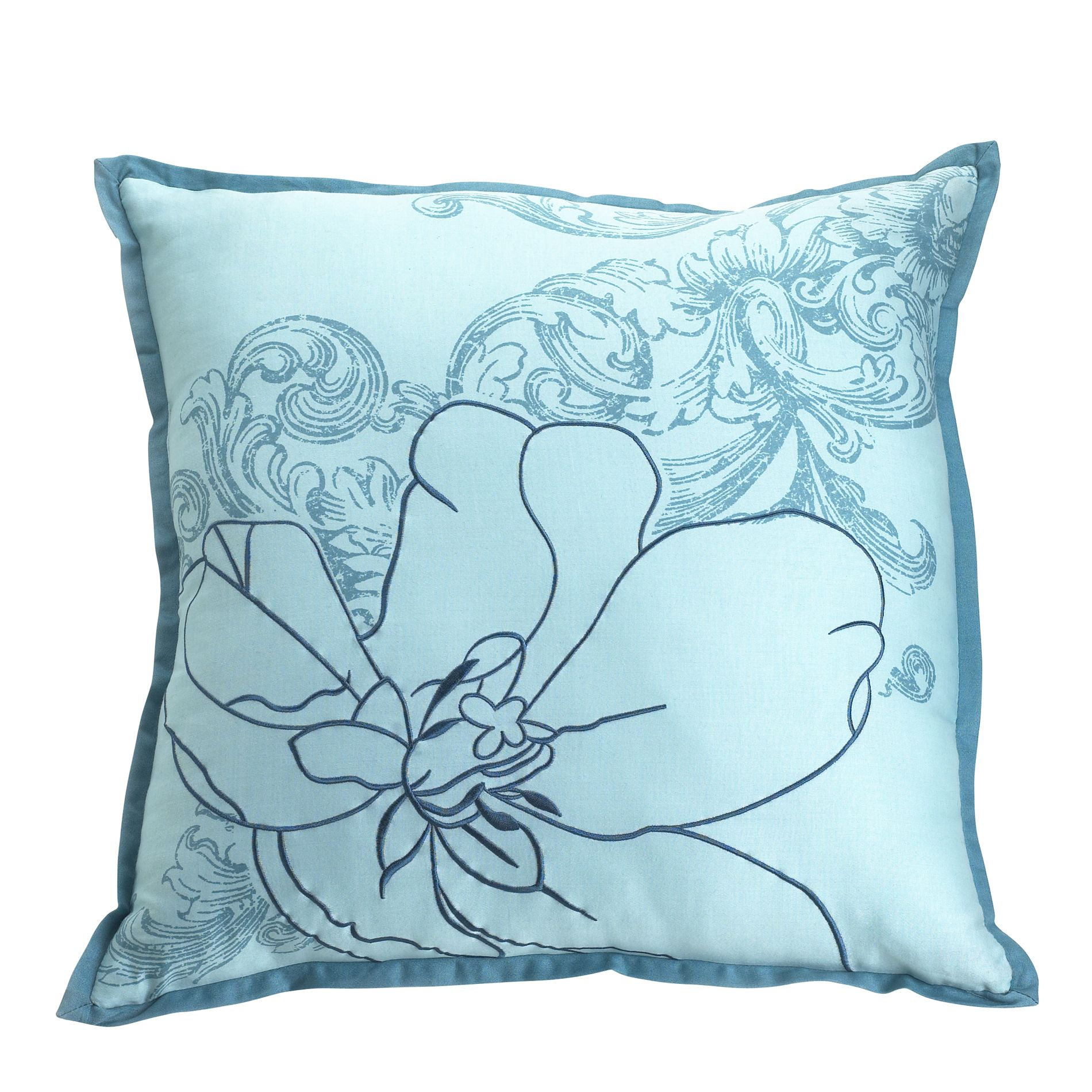 Abstract Floral Decorative Pillow 18X18