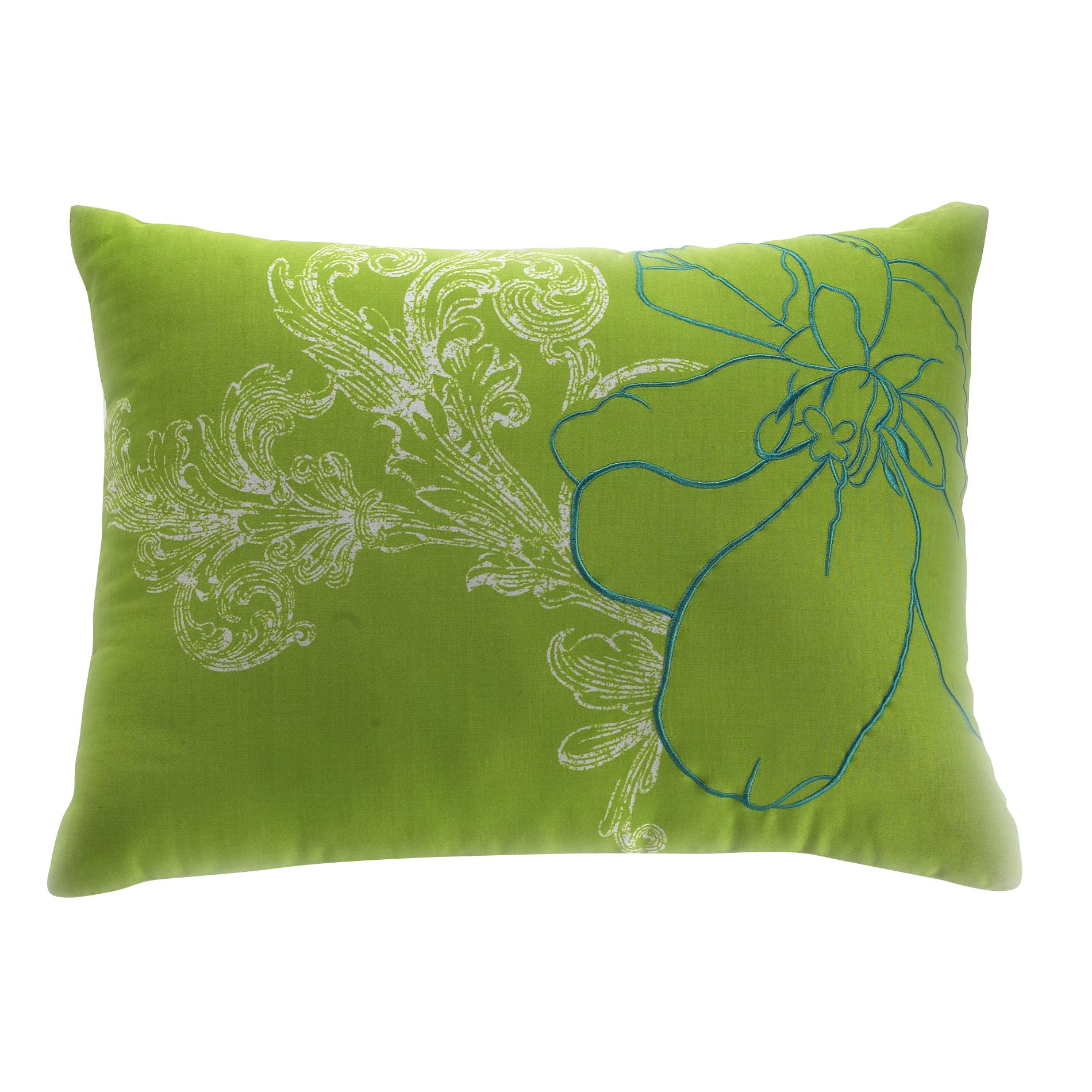 Abstract Floral Decorative Pillow 12X16