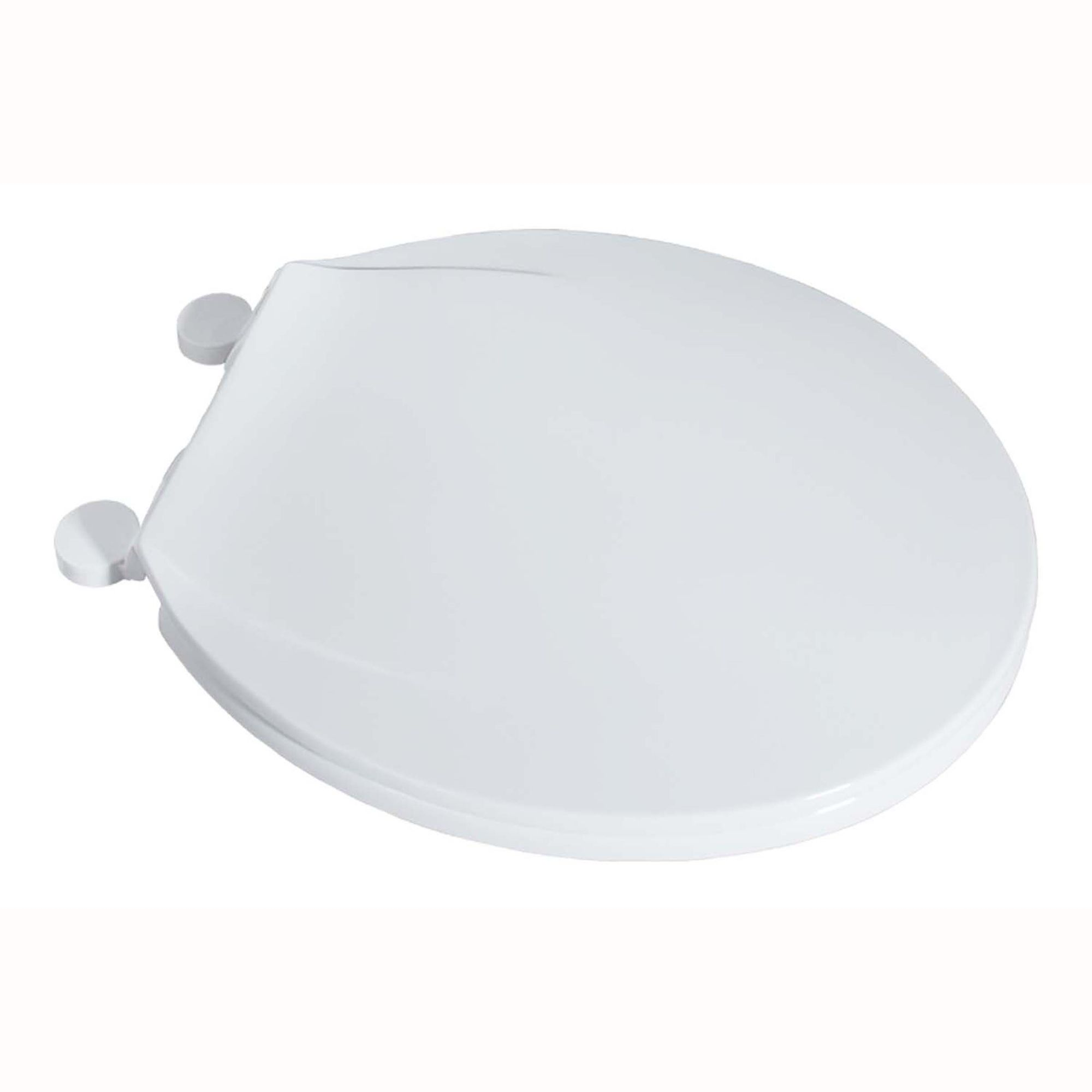 LDR Industries  Round Plastic Toilet Seat Slow Close White