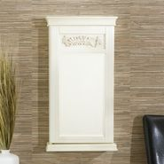 "Southern Enterprises, Inc. ""IMPERIAL"" WALL-MOUNT JEWELRY MIRROR- ANTIQUE WHITE at Kmart.com"