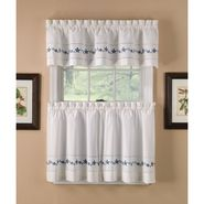 Lace Embroidered Floral Tier Curtains and Valance Collection at Kmart.com