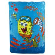 Nickelodeon Spongebob Swimming Micro Raschel Twin Blanket at Kmart.com