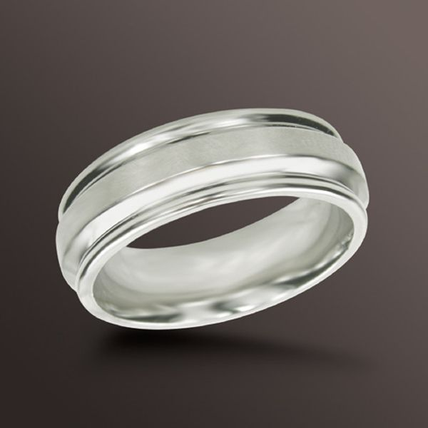 7mm Wedding Band in Stainless Steel