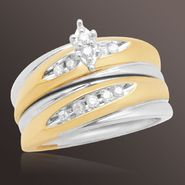1/5 ct. t.w. Round Diamond Bridal Set in 18K Gold over Sterling Silver at Sears.com
