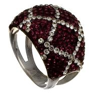 Sterling Silver Purple Crystal Ring at Kmart.com