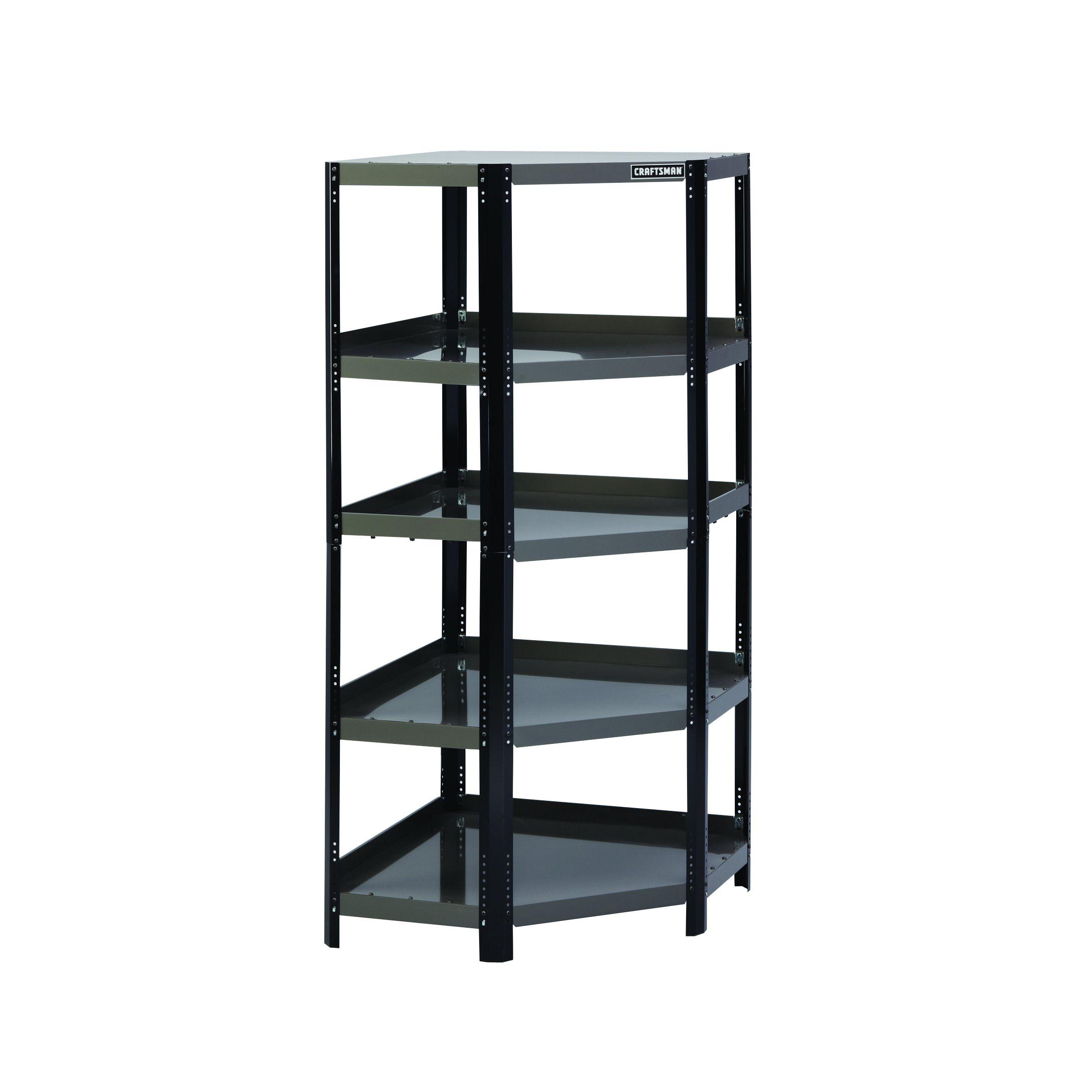 craftsman corner steel shelving unit  blackplatinum -