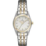 Bulova Ladies Two-tone Watch with Silver and White Dial at Sears.com