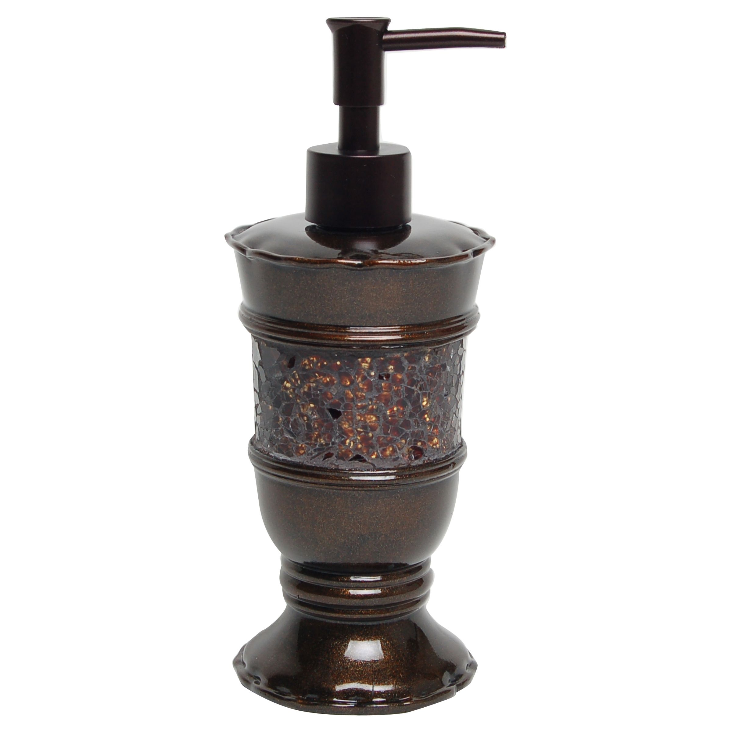 India ink prescott lotion dispenser metallic bronze topaz for Bronze bathroom accessories