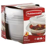 Rubbermaid TakeAlongs Containers + Lids, Round, 25.7 oz (3.2 Cups), 4 containers at Kmart.com