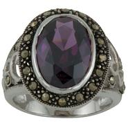 Sterling Silver Oval Marcasite Ring at Kmart.com