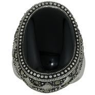 Sterling Silver Marcasite Onyx Ring at Kmart.com
