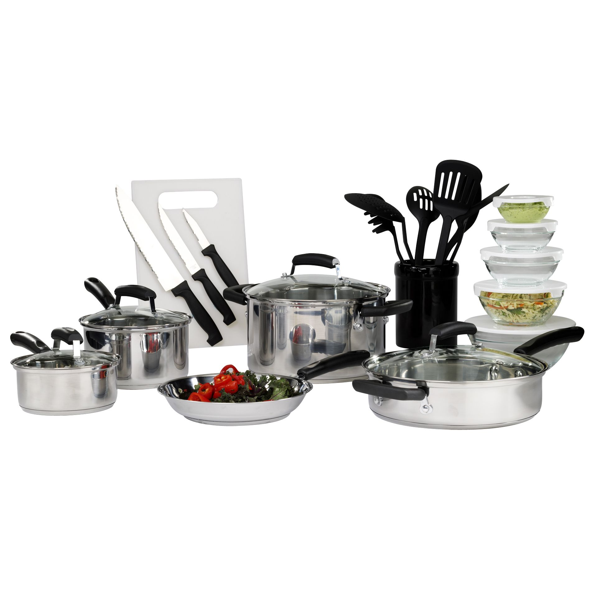 25 pc Stainless Steel Mega Set