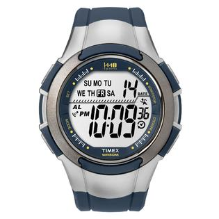 Timex Mens Digital Watch with Blue Resin Strap