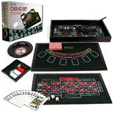 Trademark 4 in 1 Casino Game Table Roulette, Craps, Poker, BlackJack at mygofer.com