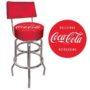 Coca-Cola Vintage Pub Stool with Back
